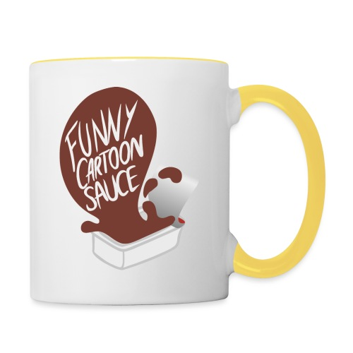 FUNNY CARTOON SAUCE - FEMALE - Contrasting Mug