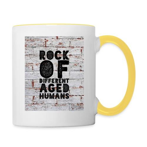 """""""Rock Of Full Font"""" Wall - Tasse zweifarbig"""