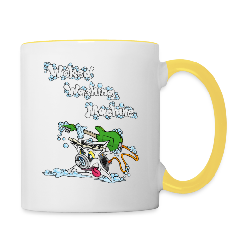 Wicked Washing Machine Cartoon and Logo - Mok tweekleurig