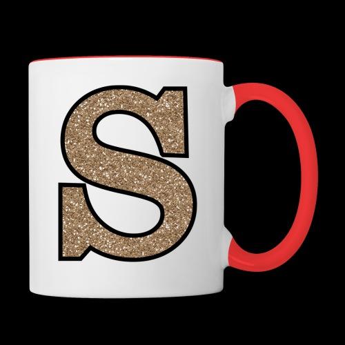Girls S For Sonnit Golden Sparkle - Contrasting Mug