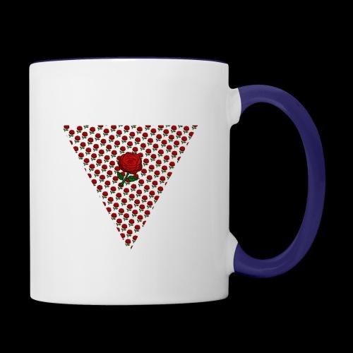 Dreieck Rose - Tasse zweifarbig
