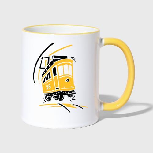 Tramway 28 cartoon Lisbonne - Mug contrasté
