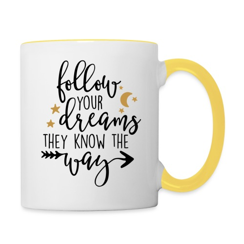 "SuperDreams ""They know the way"" - Taza en dos colores"