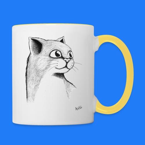 CAT HEAD by AGILL - Mug contrasté