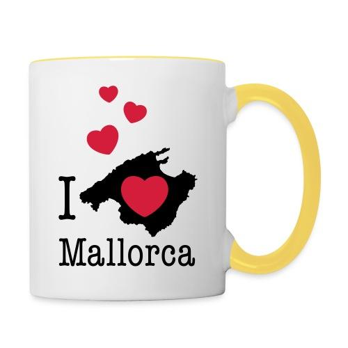 love Mallorca Balearen Spanien Ferieninsel Urlaub - Contrasting Mug