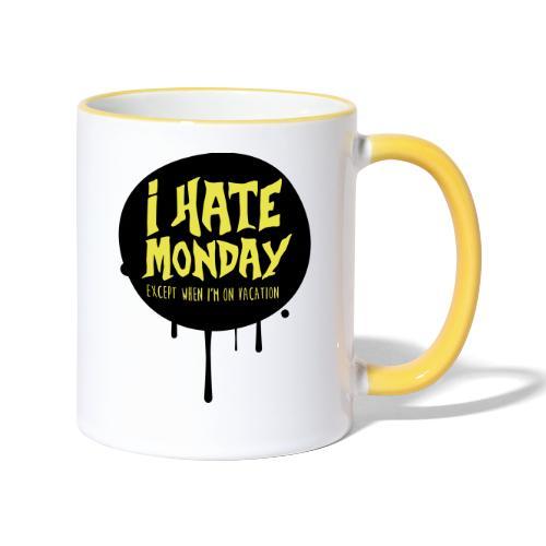 je déteste le lundi - Mug contrasté