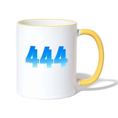 444 annonce que des Anges vous entourent. - Mug contrasté