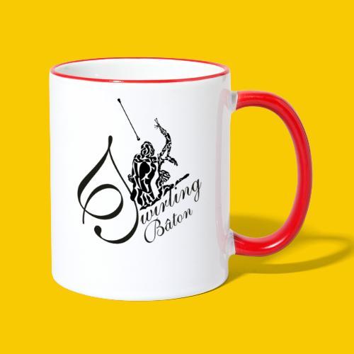 twirling b 2 - Mug contrasté