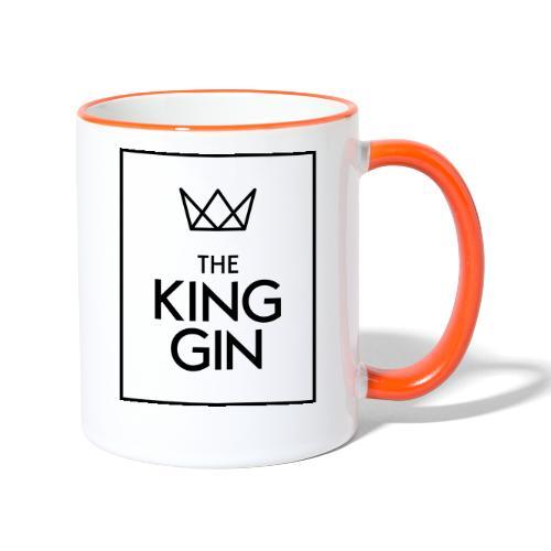 The King Gin Logo schwarz RGB Rahmen - Tasse zweifarbig