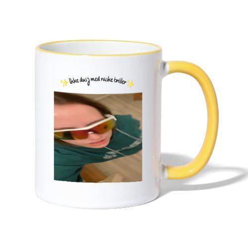 Ikke Dusj med raske briller - Tofarget kopp
