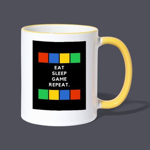 Eat, Sleep, Game, Repeat T-shirt - Contrasting Mug