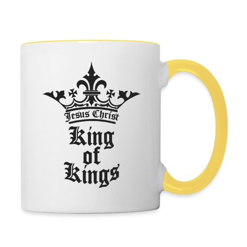 king_of_kings - Tasse zweifarbig