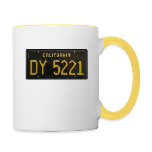CALIFORNIA BLACK LICENCE PLATE - Contrasting Mug