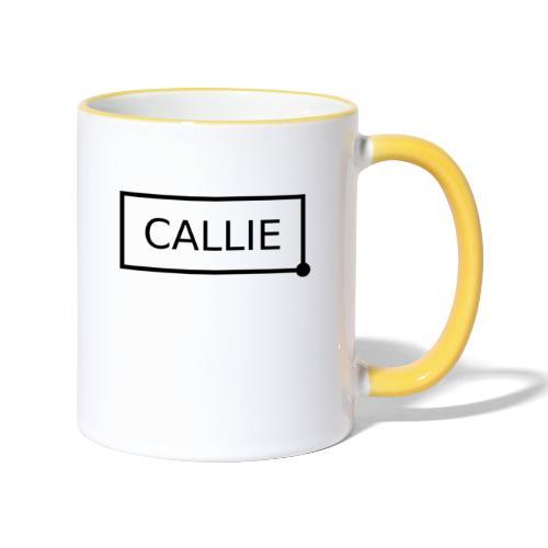 Callie. - Mok tweekleurig