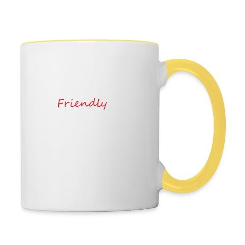 Friendly - Tasse zweifarbig