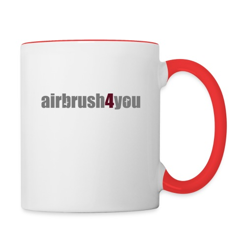 Airbrush - Tasse zweifarbig