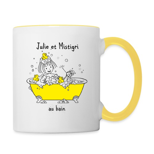 Julie et Mistigri au bain - Mug contrasté