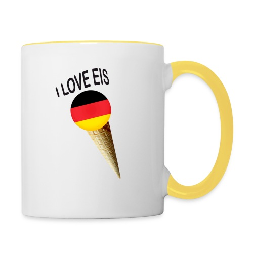 Fußball WM Fan Geschenk - Tasse zweifarbig