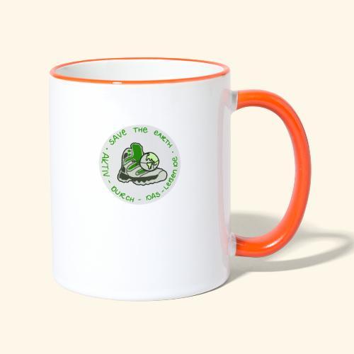 Aktiv durch das Leben - Save the earth - Tasse zweifarbig