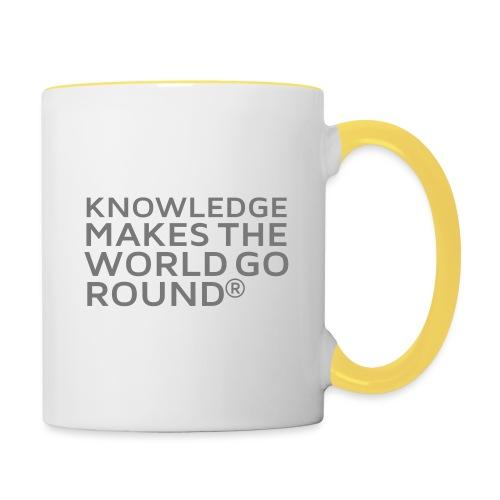 Knowledge - Tasse zweifarbig