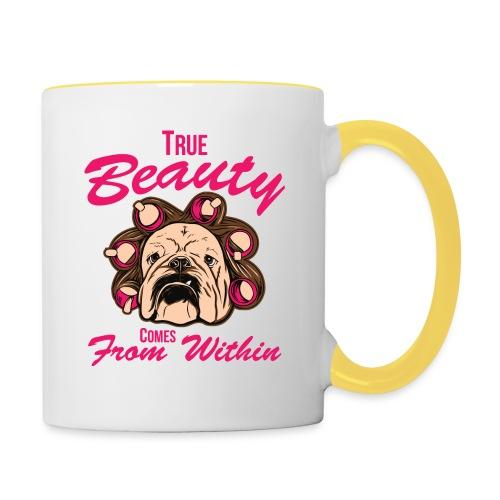 Nur für echte Bulldoggen-Liebhaber! - Tasse zweifarbig