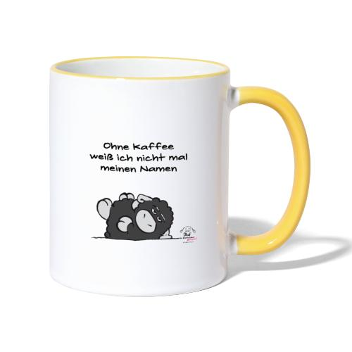 Kaffeebecher Olaf - Grummelschaf - Tasse zweifarbig