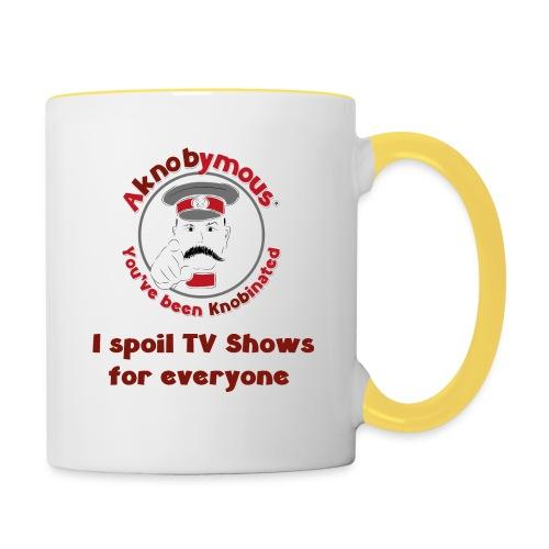 Knobination - TV Show Spoiler - Contrasting Mug