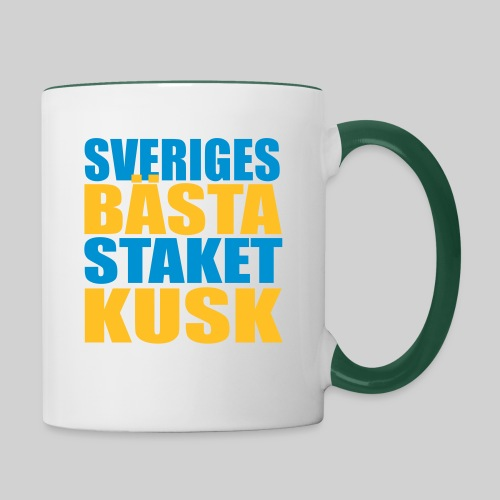 Sveriges bästa staketkusk! - Tvåfärgad mugg