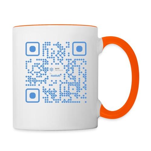 QR Maidsafe.net - Contrasting Mug