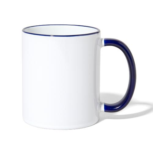 Talk Knit ?, white - Contrasting Mug