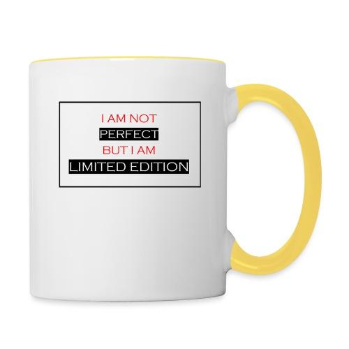 I am not perfect - but i am limited edition - Mok tweekleurig