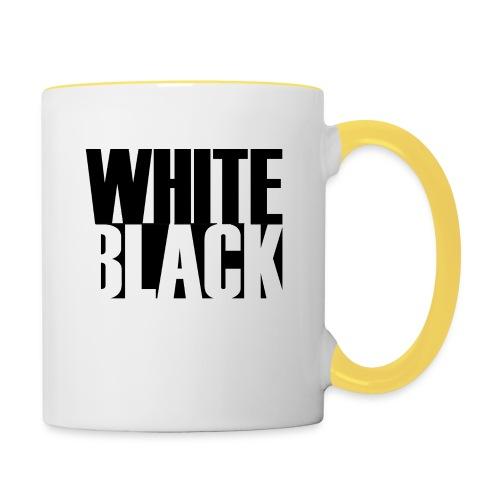 White, Black T-shirt - Mok tweekleurig