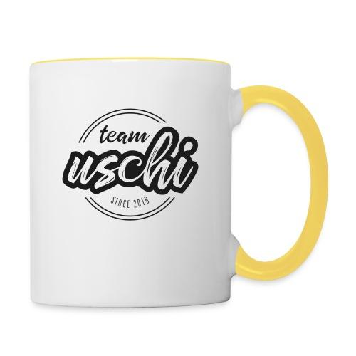 Team Uschi Schwarz original - Tasse zweifarbig