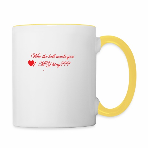 LoveYourselfTheMost - Contrasting Mug