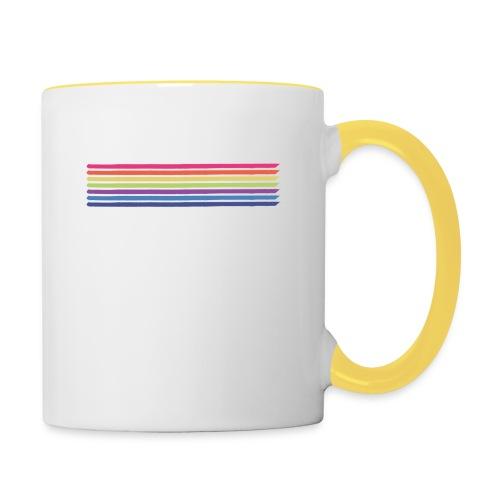 Farvede linjer - Tofarvet krus