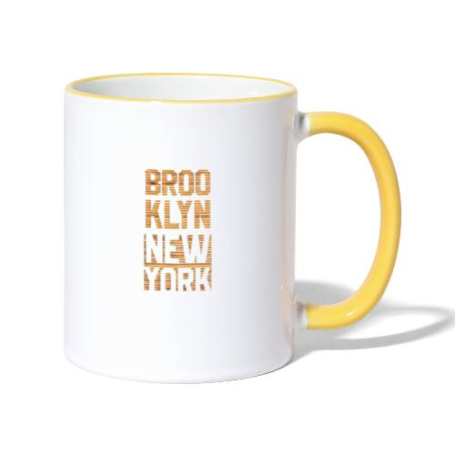 Brooklyn New York - Tasse zweifarbig