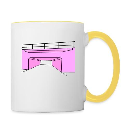 Pink Tunnel - Tvåfärgad mugg
