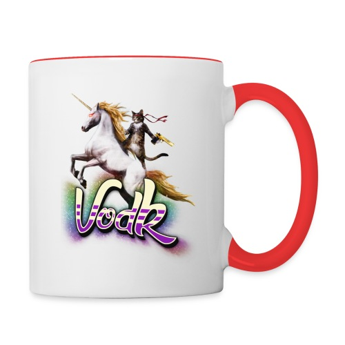 VodK licorne png - Mug contrasté