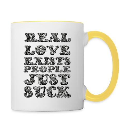 Real Love Exists REBEL INC. - Kubek dwukolorowy