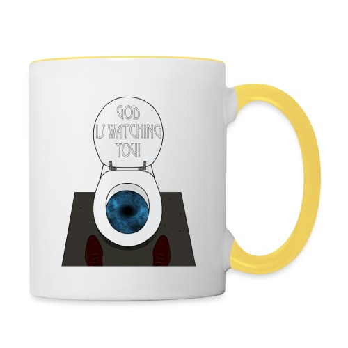 God is watching you! - Tazze bicolor
