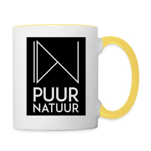 Logo puur natuur negatief - Mok tweekleurig
