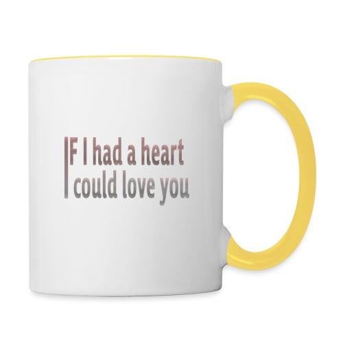 if i had a heart i could love you - Contrasting Mug