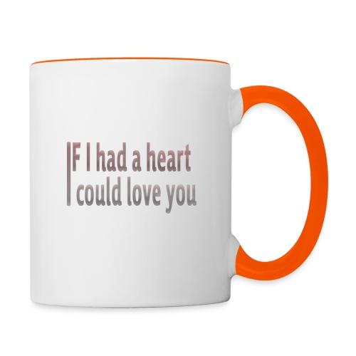 if i had a heart i could love you - Contrasting Mug
