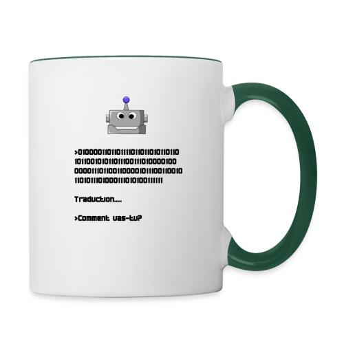 Salutation robotique - Mug contrasté