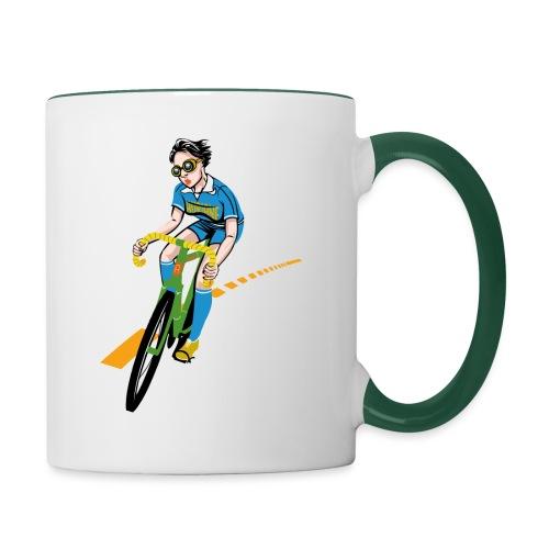 The Bicycle Girl - Tasse zweifarbig