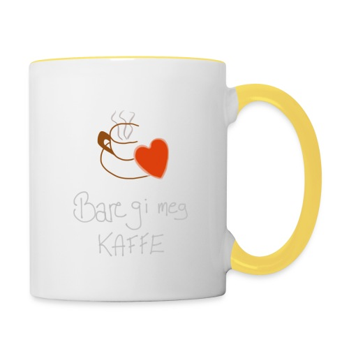 Kaffe - Tofarget kopp