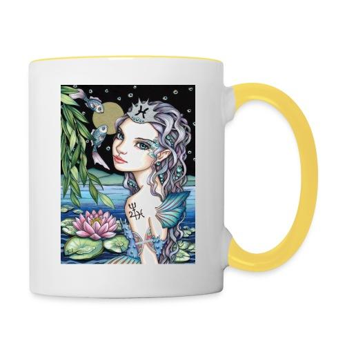 Pisces girl Fische Mädchen - Contrasting Mug