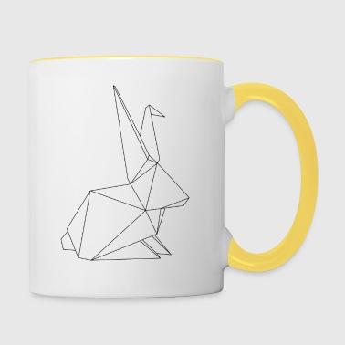origami Hase - Kaksivärinen muki