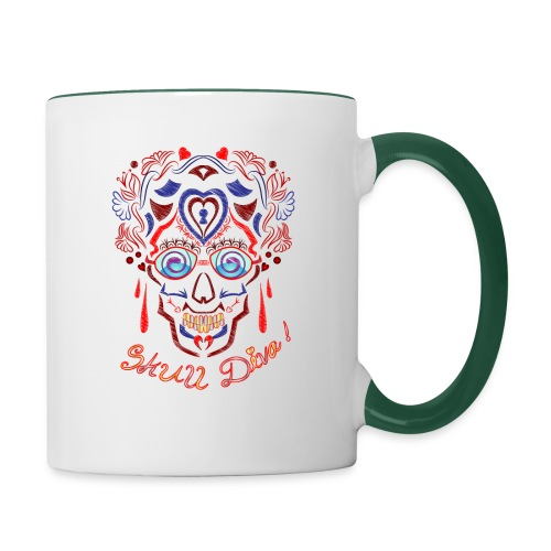 Skull Tattoo Art - Contrasting Mug