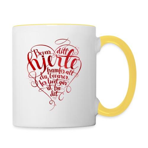 Bevar ditt hjerte - Tofarget kopp
